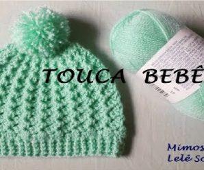 Precioso GORRITO a crochet para bebe PASO A PASO!