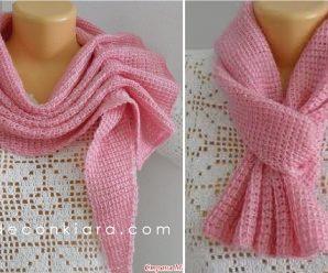 Como hacer una preciosa BUFANDA a Crochet Paso a paso!