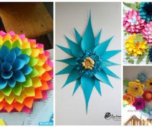 7 Moldes y tutorial para hacer lindos adornos de papel para fiestas
