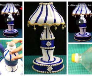 Aprende cómo hacer una hermosa lampara con botellas recicladas