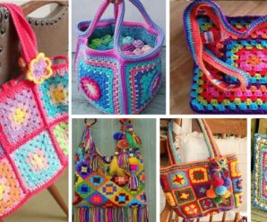 HAZ UNA COLORIDA CARTERA TEJIDA CON GRANNY SQUARE FACIL