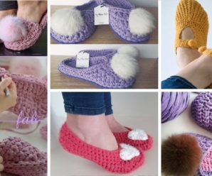 Aprende a tejer una Bellisima PANTUFLA a Crochet Tutorial con video
