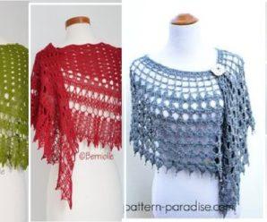 Te enseñamos a TEJER UN HERMOSO CHAL a crochet Facilmente