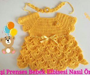 Aprende a tejer un precioso VESTIDO para una PRINCESA BEBE a crochet