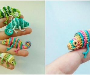 We Think These Tiny Crochet Chameleons Will Bring Us Good Karma