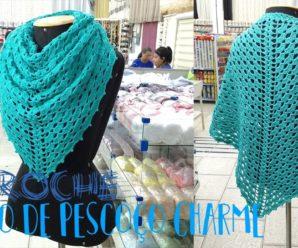 Como tejer linda Bufanda de cuello tipo Chal a Crochet