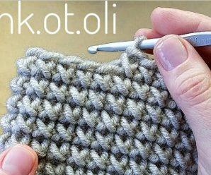 Aprende PATRÓN DE TEJER «Cruces» a Crochet