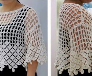 Crochet Tutorial Blusa facil «Marbella» Todas las Tallas