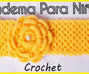 Bella Diadema Tejida a Crochet (FÁCIL Y PASO A PASO)