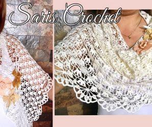 Tejiendo un Hermoso Chal a Crochet Facilmente