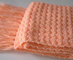 Como tejer una Bufanda o Chalina Simple a Crochet