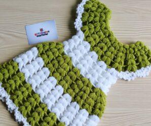 Como tejer Un Hermoso Vestido de niña a Crochet