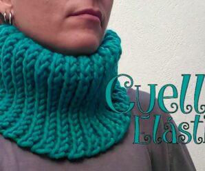 Como Tejer un Bello Cuello Elastico a Crochet