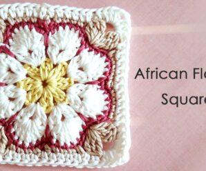 Hermoso Grany Square Motivo FLOR AFRICANA Paso a paso