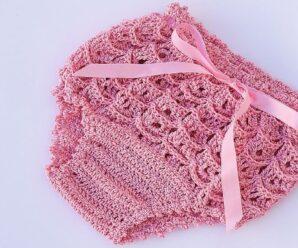 Cubre Pañal o Braguita a Crochet Muy Fácil y Rápido