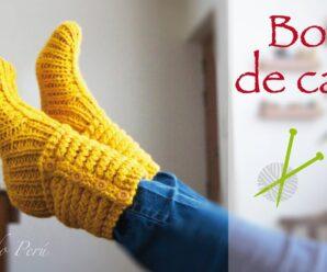 Hermosas Pantuflas en Punto Choclo/Elote Para el invierno