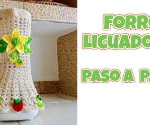 Tutorial Funda para Licuadora a Crochet Paso a Paso