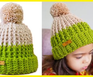 GORRO para NIÑO y NIÑA Tejido a Crochet (TODAS LAS TALLAS)