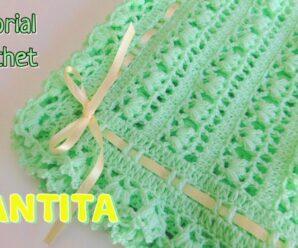 Mantita o cobija para bebe a crochet Superfacil
