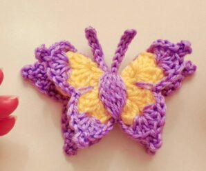 PASO A PASO DE MARIPOSA a Crochet EN «3D»