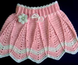 Como Tejer una Falda Para niñas a Crochet + Patrones