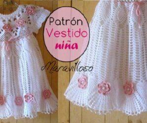 El Vestido Mas Lindo para Niña a Crochet CURSO NUEVO