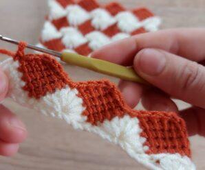 Bello Patron para Manta Doble cara a Crochet Paso a Paso