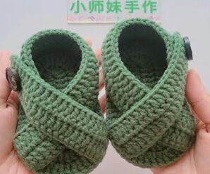 Como Tejer Sandalias para Bebe a Crochet Paso a Paso