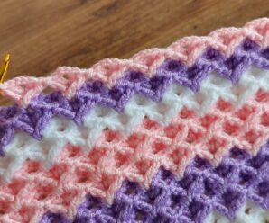 Bella Puntada para Tejer Manta o chal a Crochet